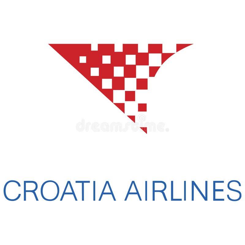 Croatia Airlines-embleempictogram stock illustratie