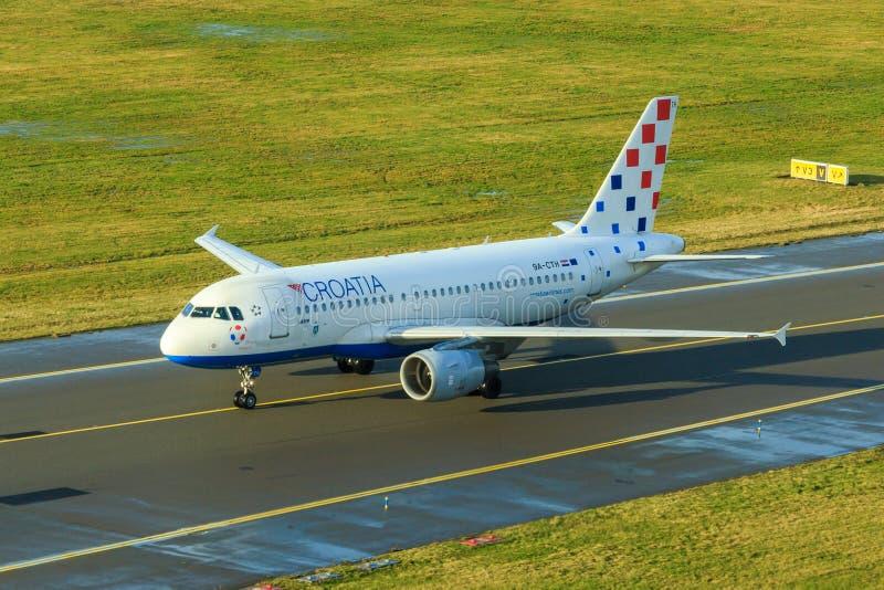 Croatia Airlines-Luchtbus A319 stock fotografie