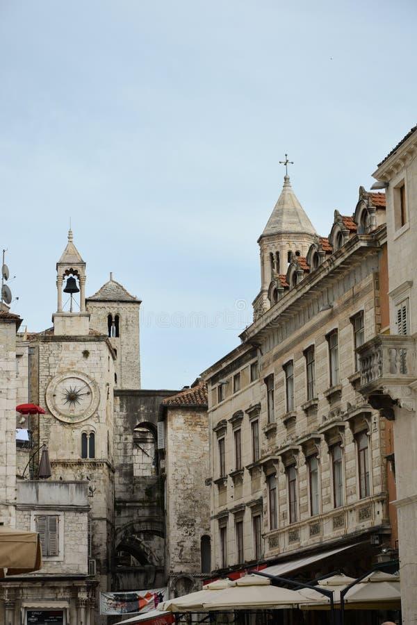 croatia delad town royaltyfri fotografi
