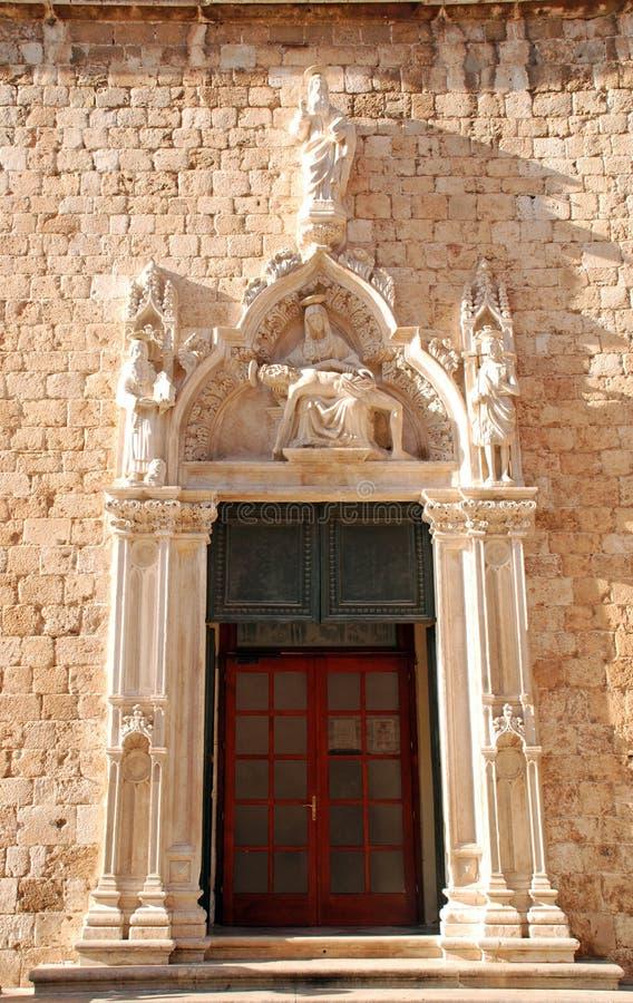 croatia dubrovnik franciscan klosterpieta arkivfoto