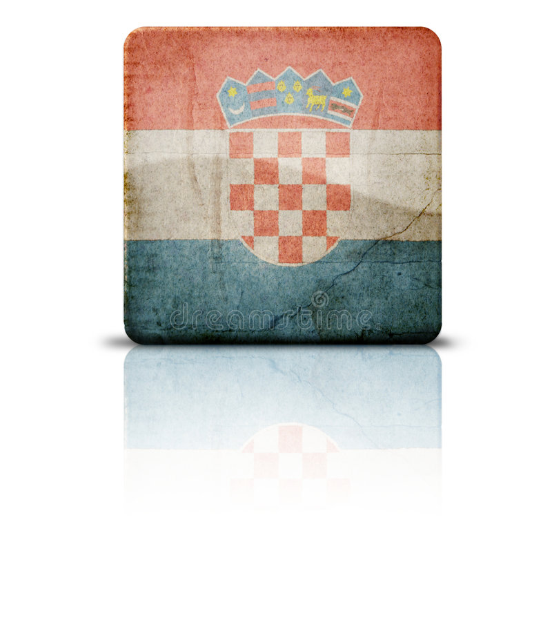 croatia flagę royalty ilustracja
