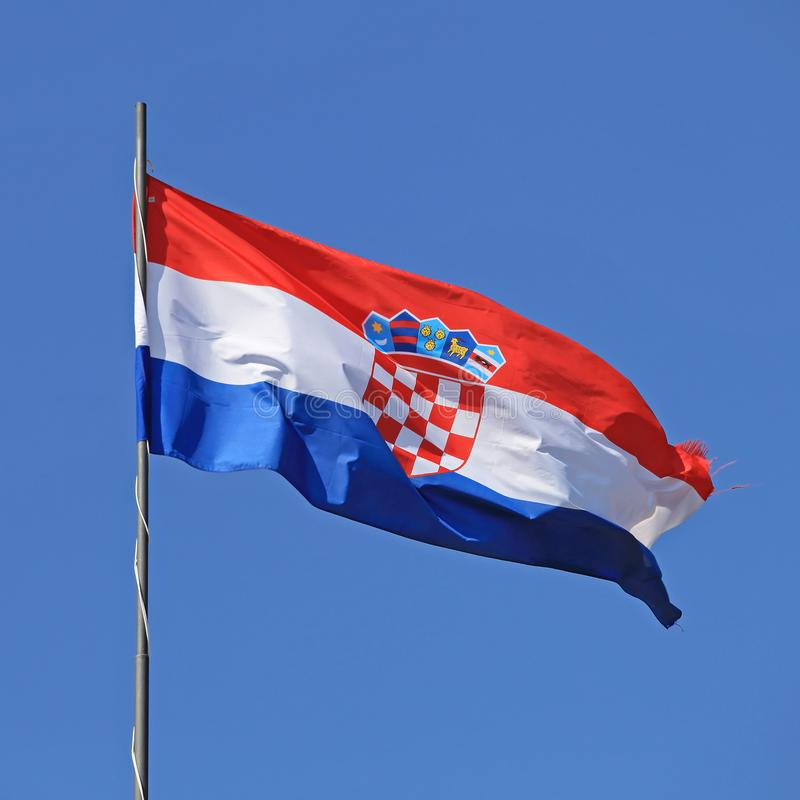 Croatia Flag royalty free stock images