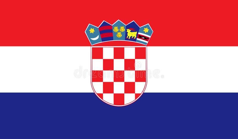 Croatia flag image royalty free illustration