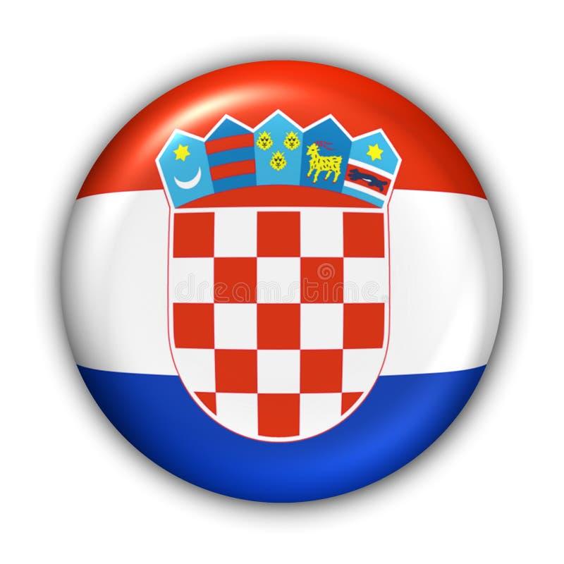croatia flagga royaltyfri illustrationer