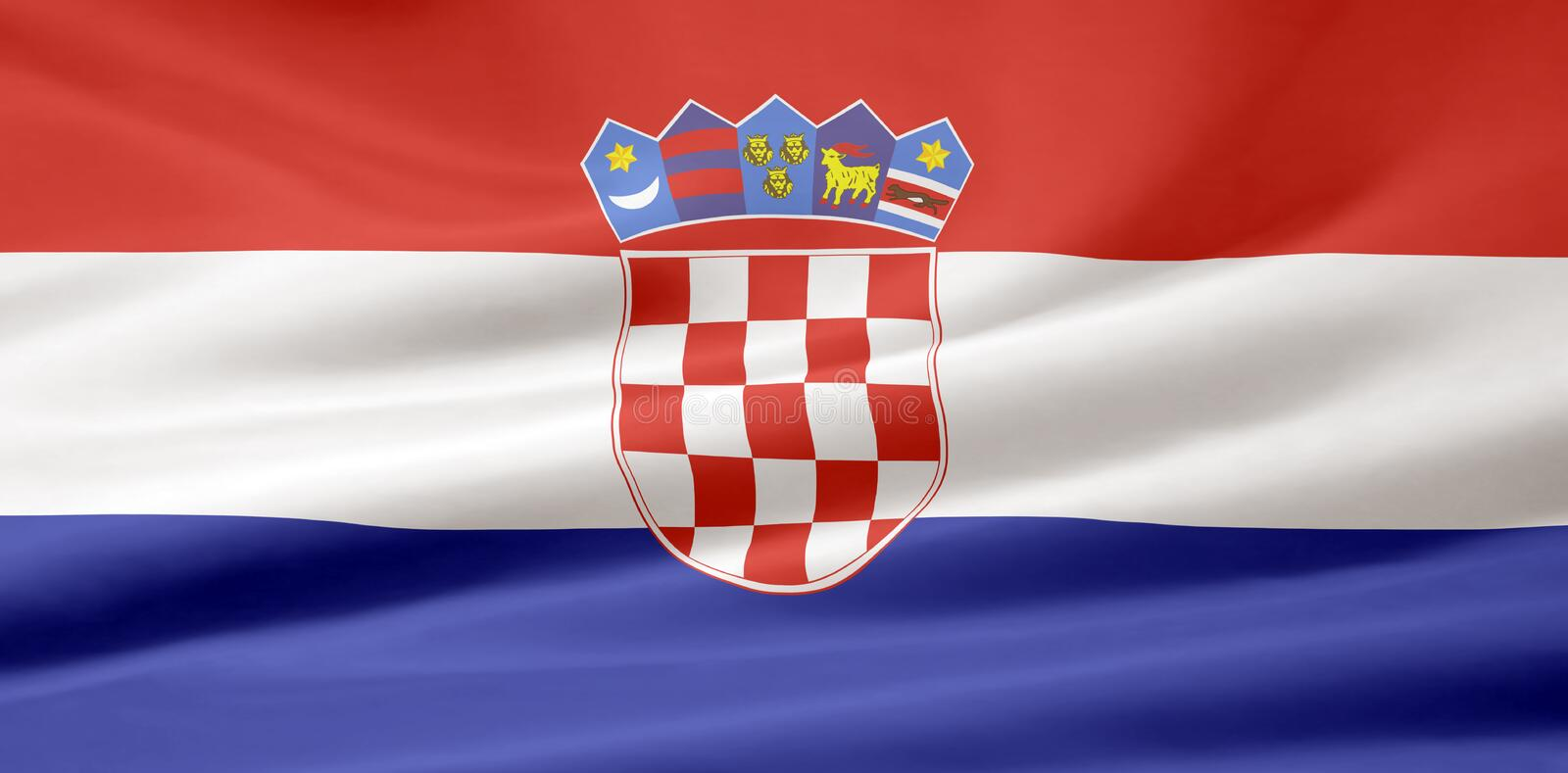 croatia flagga vektor illustrationer