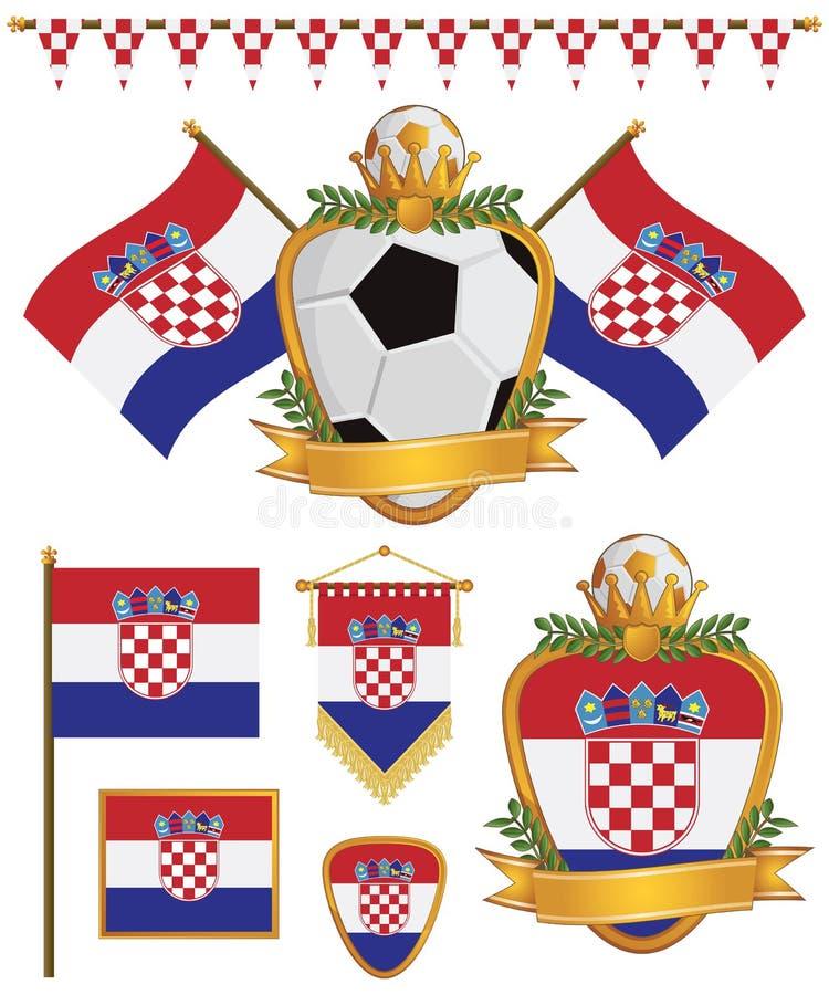 Croatia Flags Royalty Free Stock Photography