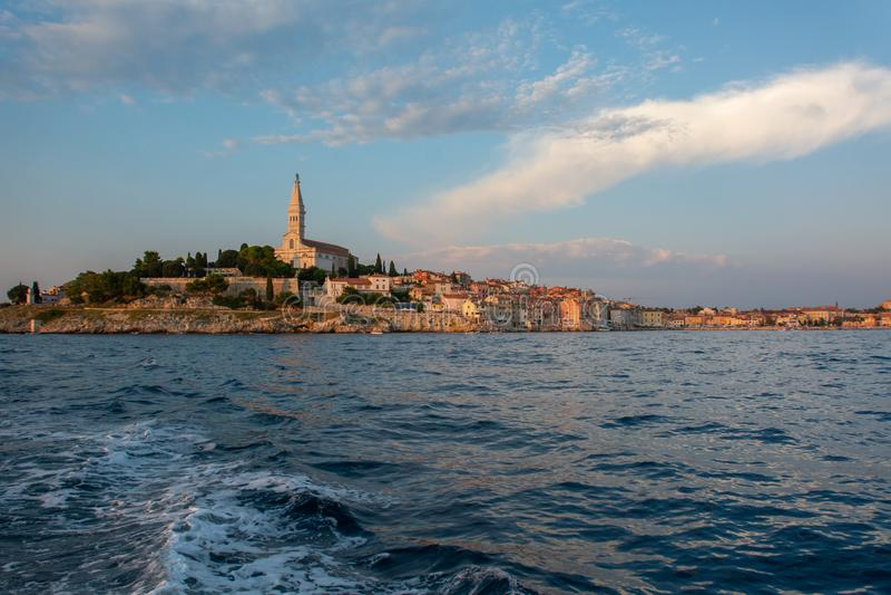 croatia gammal rovinjtown royaltyfri bild
