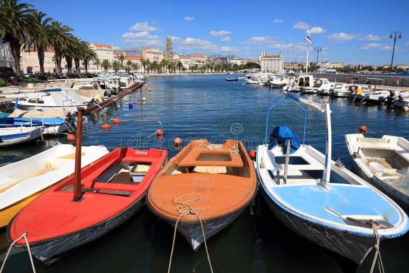 croatia hamnsplit royaltyfria foton