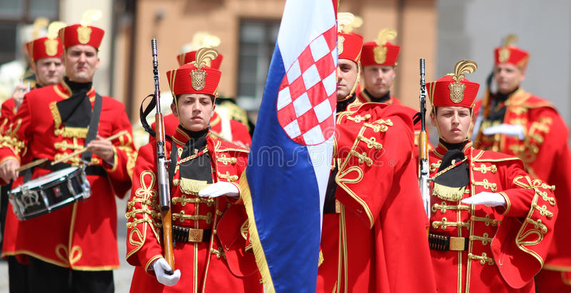 Croatia / Honor Guard Battalion / March With Proud royalty free stock images