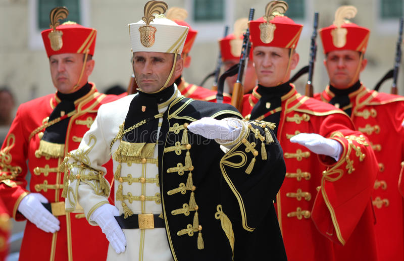 Croatia / Honor Guard Battalion / Marching royalty free stock photos