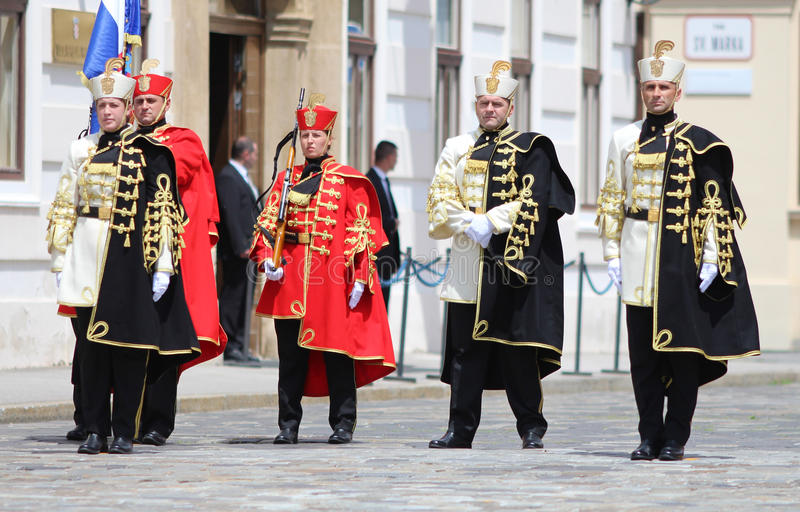 Croatia / Honor Guard Battalion / Men And Women. Honor Guard Battalion is a military unit of Armed Forces of the Republic of Croatia that performs protocol tasks royalty free stock photography