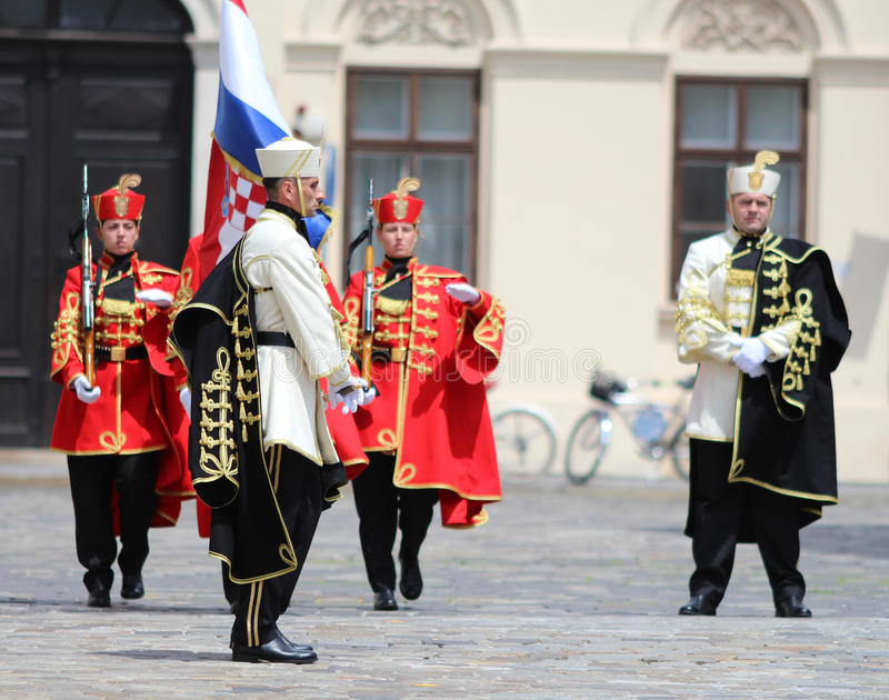 Croatia / Honor Guard Battalion. Honor Guard Battalion is a military unit of Armed Forces of the Republic of Croatia that performs protocol tasks for the needs royalty free stock photo