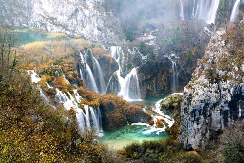 croatia jezior park narodowy plitvice sostavtsy siklawy zdjęcia royalty free