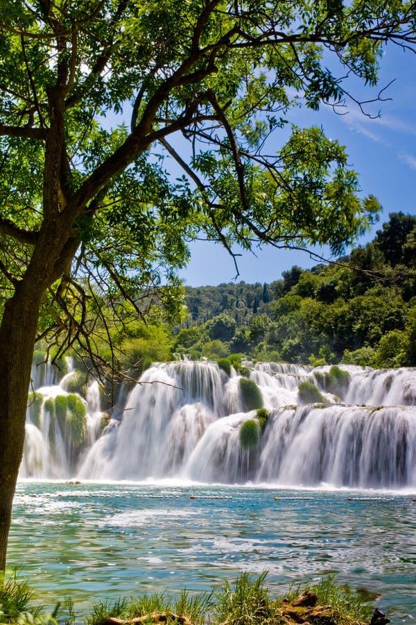 croatia krka park narodowy siklawa zdjęcia royalty free
