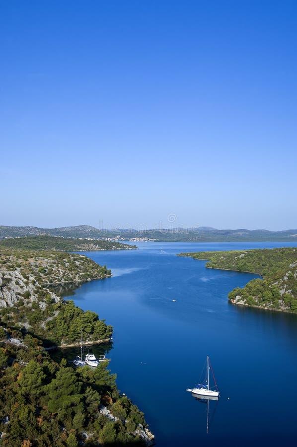 Croatia - The Krka river royalty free stock photo