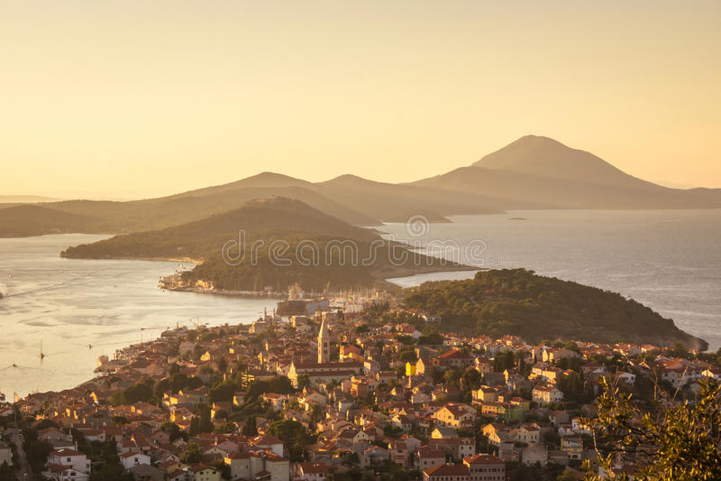 croatia losinj mali arkivbild