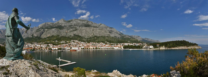 croatia makarska obraz royalty free