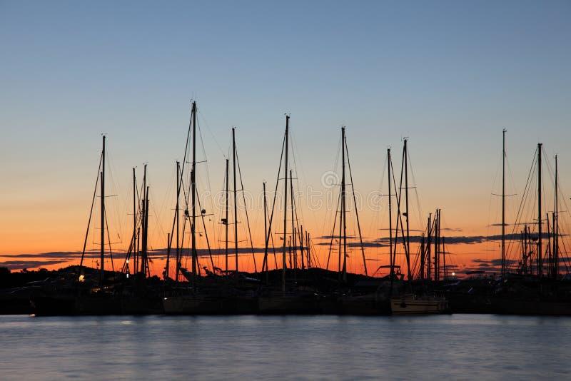 croatia marina zmierzch obrazy royalty free