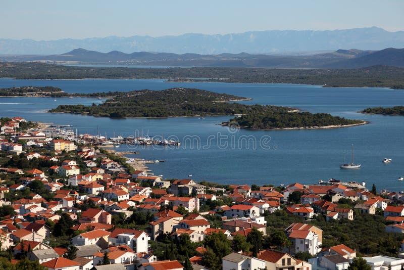 croatia murter miasteczko obraz stock