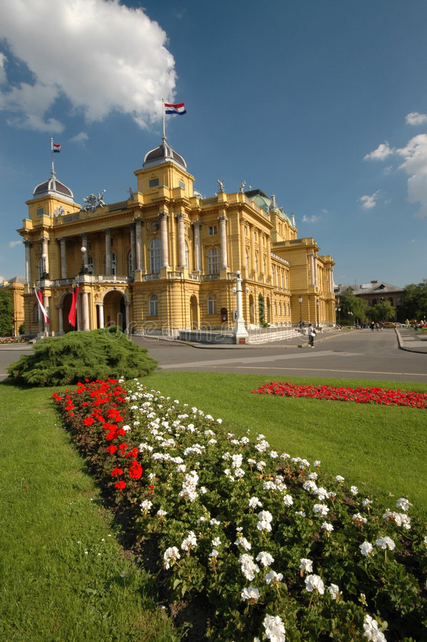 Download Croatia National Theater  Zagreb Stock Image - Image: 1713023