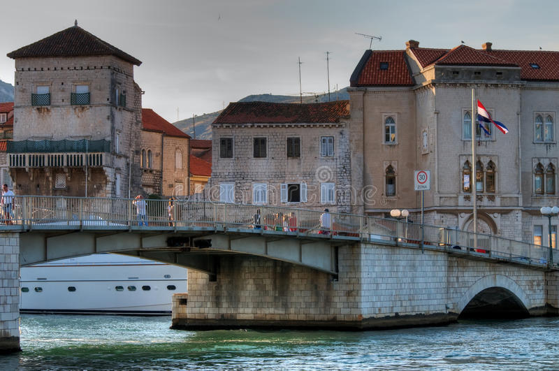 Croatia. Old bridge. stock images