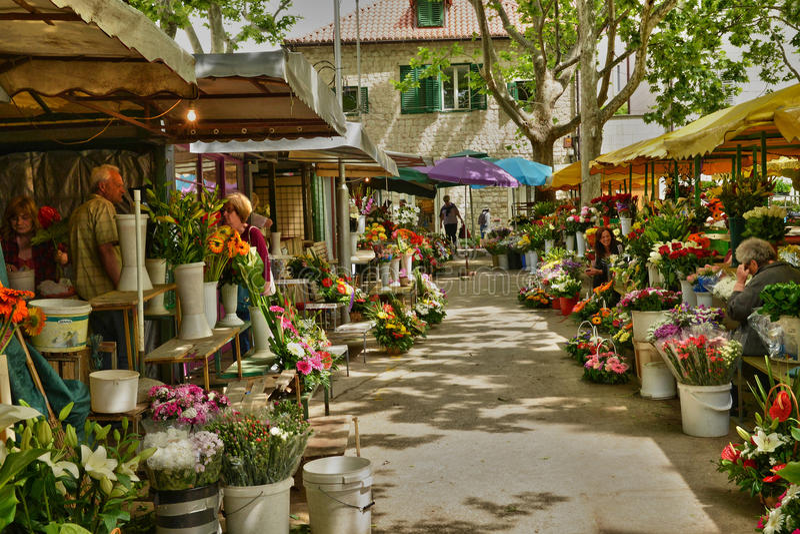 Croatia; picturesque and historical city of Split in Balkan stock photo