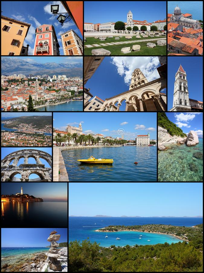 Croatia postcard stock image. Image of memories, location   61506949