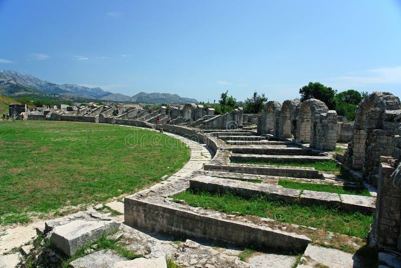 Croatia, ruins, amphitheatre stock photos