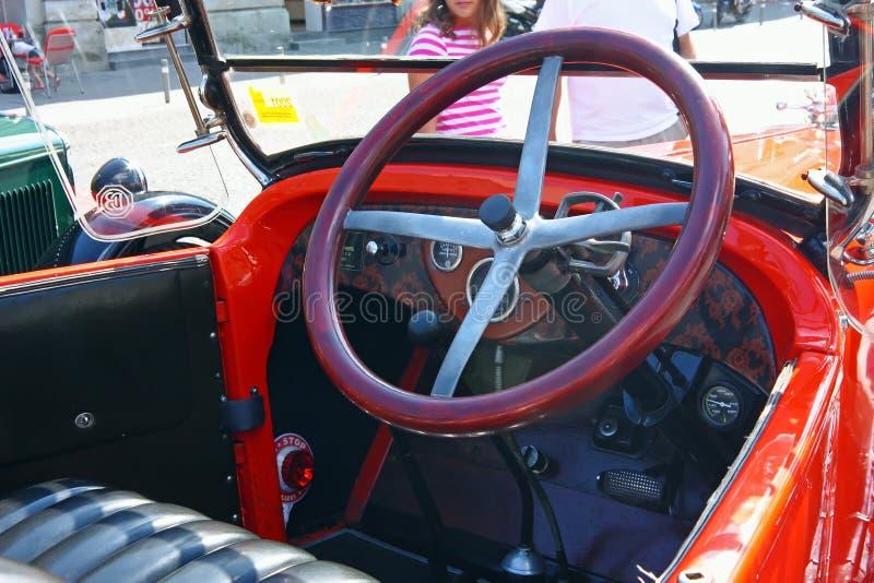 Dodge Roadster, Classic Car. CROATIA SAMOBOR, 17 JULY 2011: Cockpit of classic car, Dodge Brothers Roadster from 1924, ``14. Oldtimer Rally`` in Samobor, Croatia stock photography