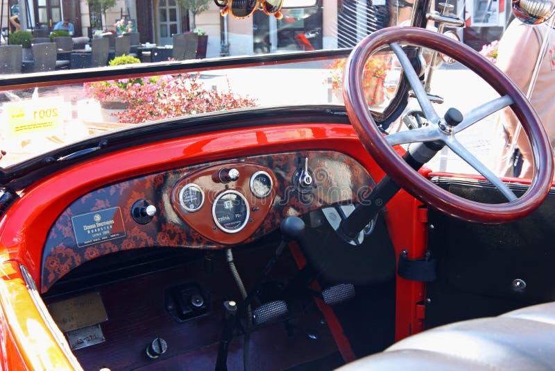 Dodge Roadster, Classic Car. CROATIA SAMOBOR, 17 JULY 2011: Cockpit of classic car, Dodge Brothers Roadster from 1924, ``14. Oldtimer Rally`` in Samobor, Croatia royalty free stock images