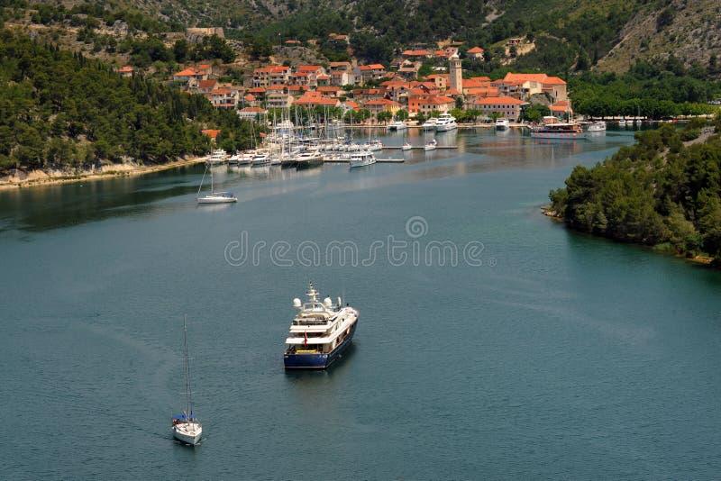 croatia skradin royaltyfri bild