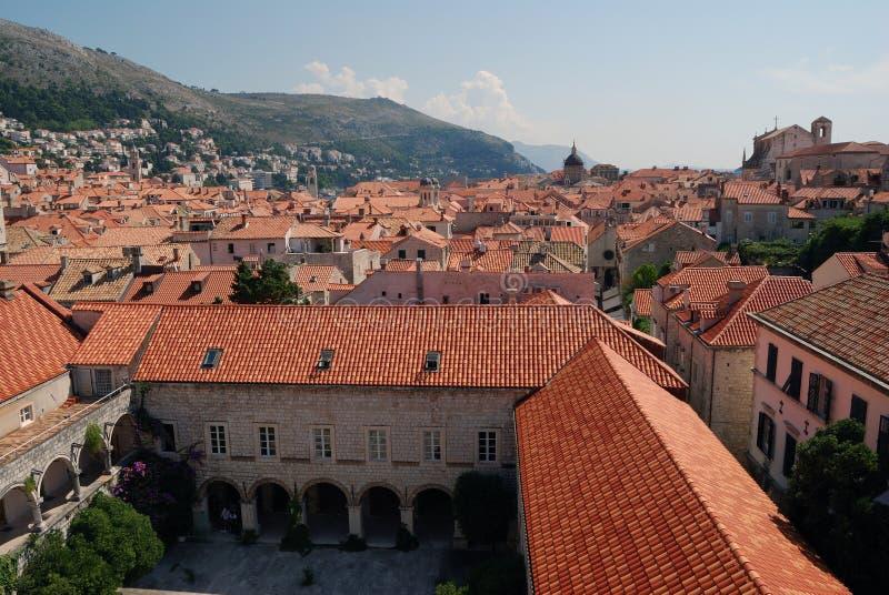 Dubrovnik. Croatia, Southern Dalmatia, View of the Dubrovnik city stock photography