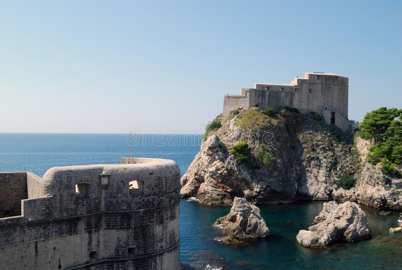 Dubrovnik. Croatia, Southern Dalmatia, View of the Dubrovnik fortress royalty free stock photography