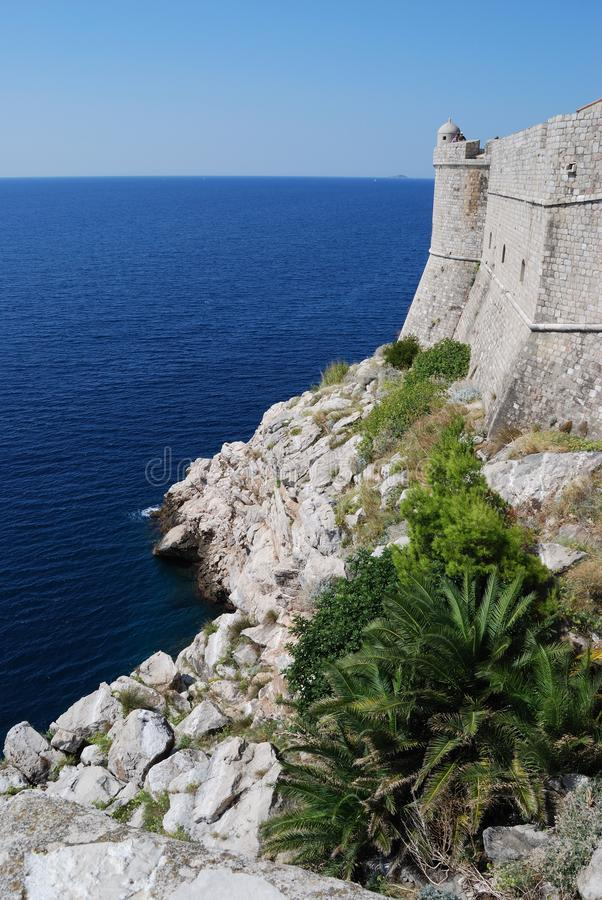 Dubrovnik. Croatia, Southern Dalmatia, View of the Dubrovnik fortress stock images