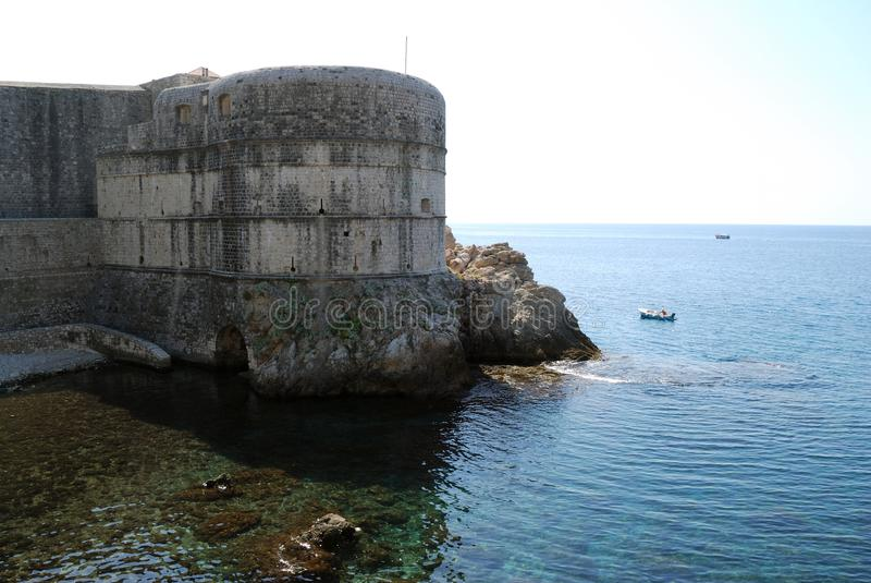 Dubrovnik. Croatia, Southern Dalmatia, View of the fortress Dubrovnik royalty free stock image