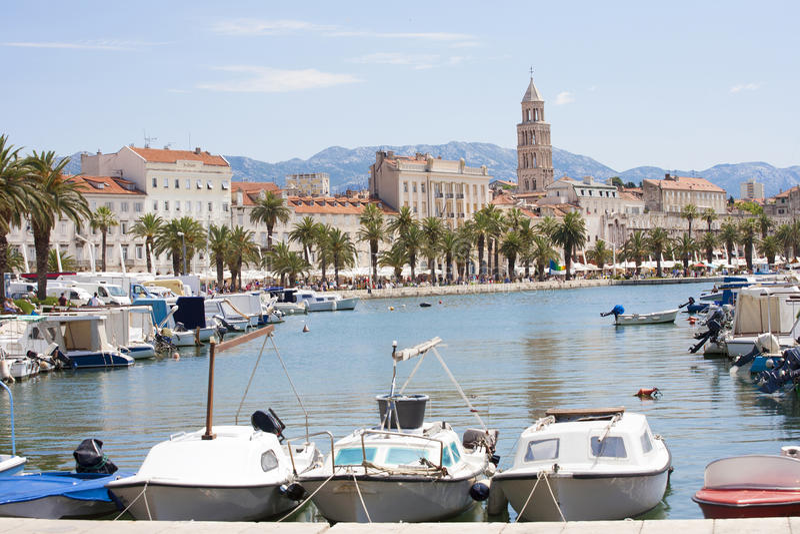 croatia split royaltyfria bilder