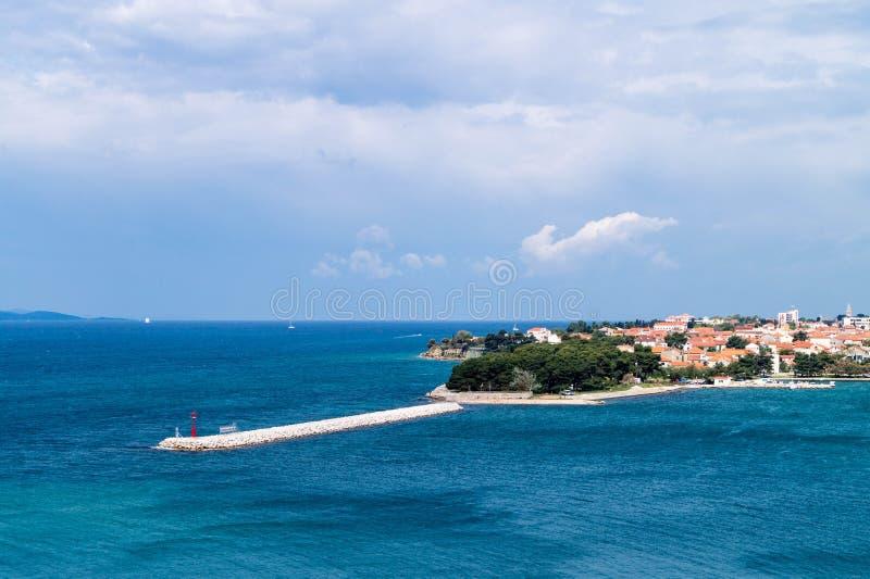 croatia wej?cia schronienia panoramiczny strza? zadar zdjęcia royalty free