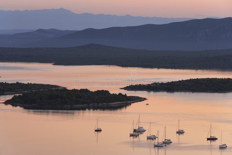 croatia wyspy murter obrazy stock