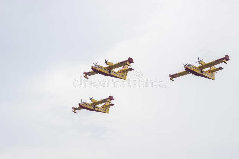 Croatian Air Force Canadair royalty free stock photos