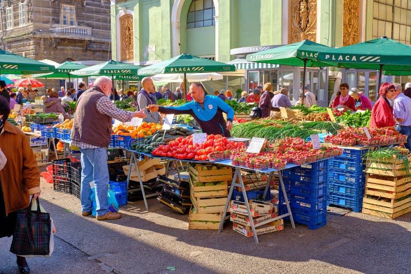 Croatian coast Farmer market royalty free stock photos