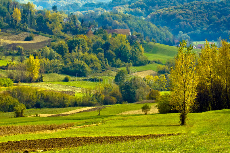 Croatian countryside. Europe. Landscape in the region Zagorje royalty free stock photos