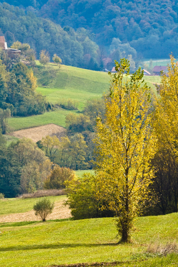 Croatian countryside. Europe. Landscape in the region Zagorje royalty free stock image
