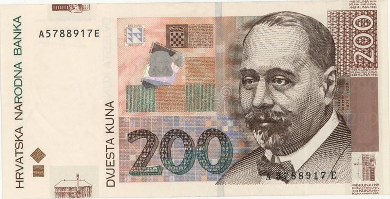 Croatian currency royalty free stock image