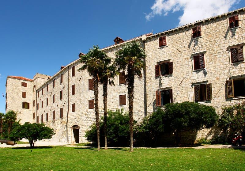 Croatian facade. Sibenik royalty free stock photography