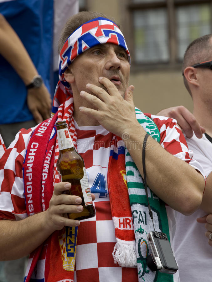 Download Croatian Fan Editorial Stock Photo - Image: 25350913