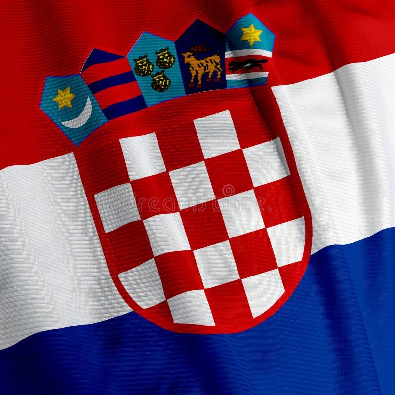 Croatian Flag Closeup royalty free stock photos