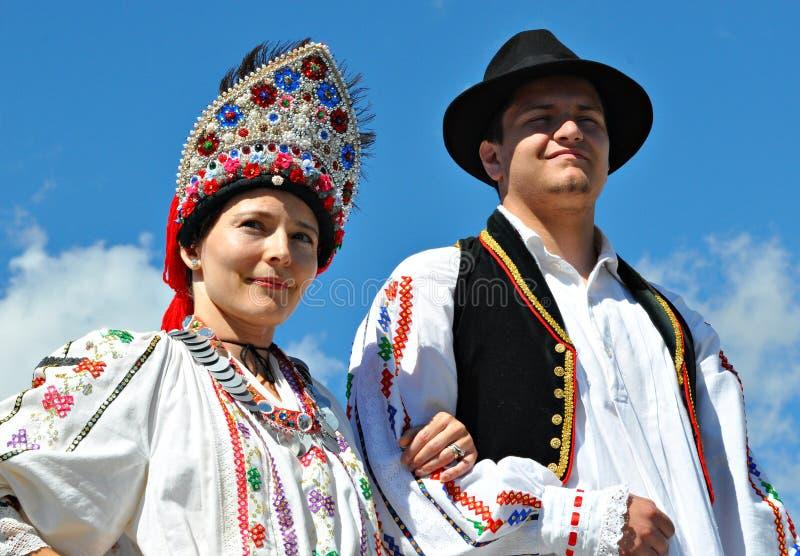 Croatian Folk Dancers. At Edmonton's Heritage Festival royalty free stock photography