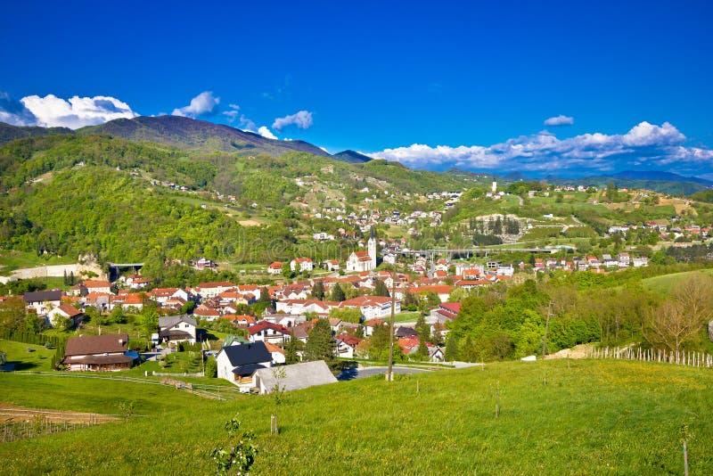 Croatian green region of Zagorje view royalty free stock photo