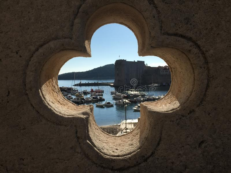 Croatian Harbour stock photo