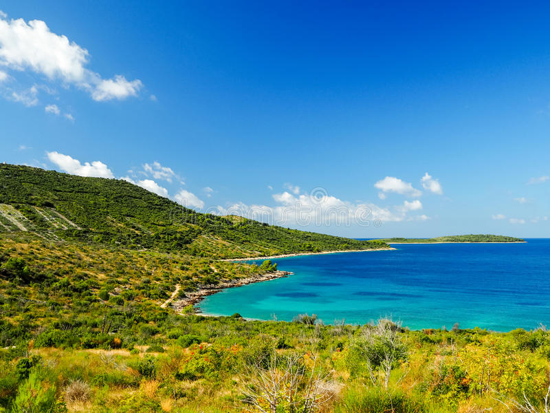 Croatian landscape at the seaside royalty free stock image